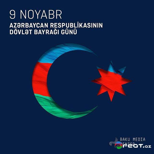 9 Noyabr Bayraq Günü Yazılı Şəkilləri
